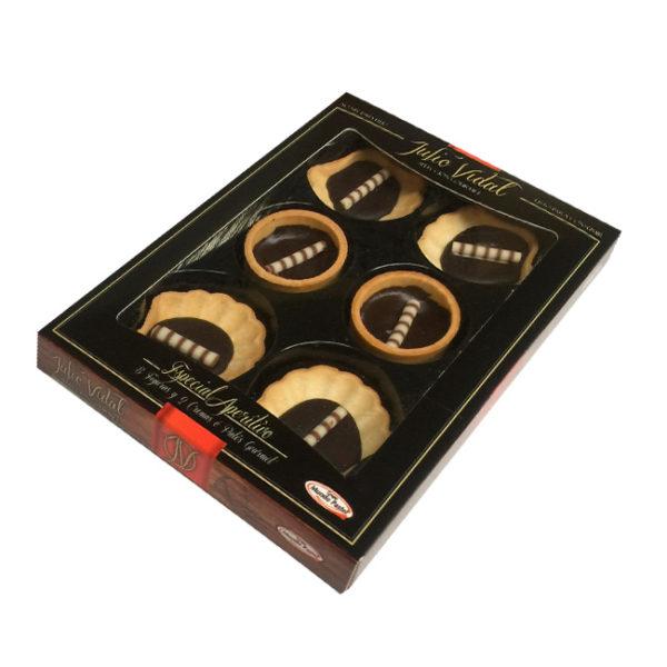Mini Concha y Mini Tartaleta, rellenas de Chocolates Selectos, de Julio Vidal