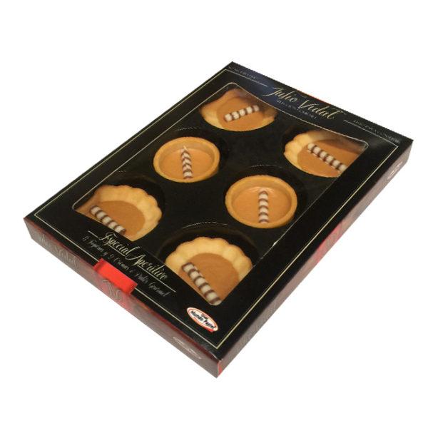 Mini Concha y Mini Tartaleta, rellenas de Turrón de Jijona 100% Denominación de Origen, de Julio Vidal.