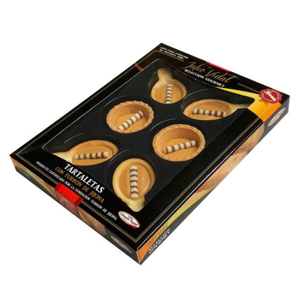 Mini Cuchara y Mini Tartaleta, rellenas de turrón de Jijona 100% Denominación de Origen, de Julio Vidal