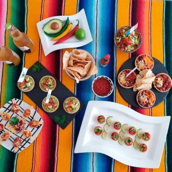 comida temática mexicana con tartaletas mundo pastel